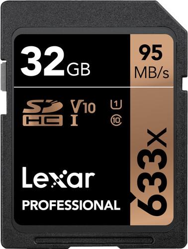 Lexar SDHC Professional UHS-I 633x 32GB Main Image
