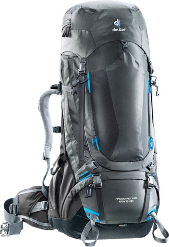 Deuter Aircontact Pro 65L + 15L Graphite/Black - Slim Fit Main Image