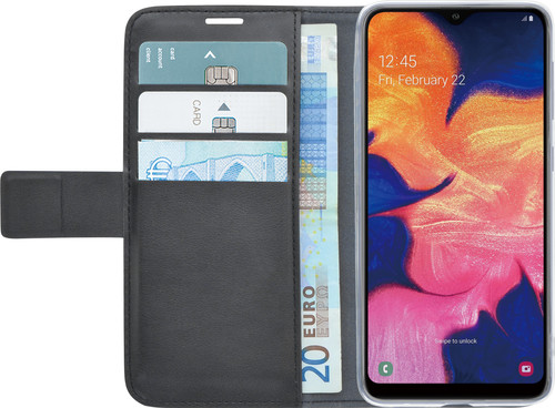 Azuri Wallet Magnet Samsung Galaxy A10 Book Case Black Main Image