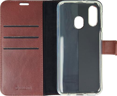 Valenta Booklet Gel Skin Samsung Galaxy A40 Brown Leather Main Image