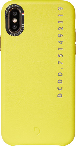 Decoded Leather Apple iPhone X / Xs Back Cover Yellow Main Image