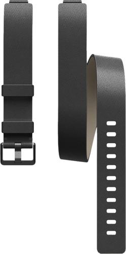 Fitbit Inspire Dubbel Bandje Leer Zwart Main Image