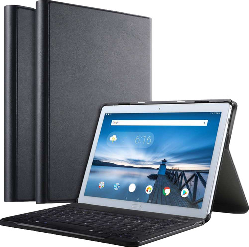 Just in Case Premium Bluetooth Lenovo Tab P10 Toetsenbord Hoes Zwart QWERTY Main Image