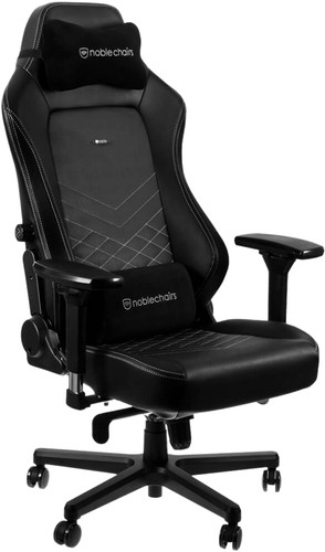 Noblechairs HERO Gaming Chair PU Faux Leather - black / white Main Image