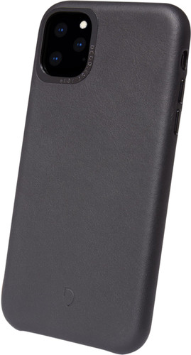 Decoded Apple iPhone 11 Pro Back Cover Leer Zwart Main Image