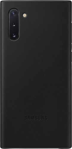 Samsung Galaxy Note 10 Back Cover Leer Zwart Main Image