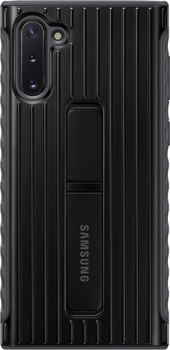 Samsung Galaxy Note 10 Protective Standing Back Cover Zwart Main Image