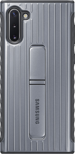 Samsung Galaxy Note 10 Protective Standing Back Cover Silver Main Image