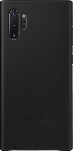 Samsung Galaxy Note 10 Plus Back Cover Leer Zwart Main Image