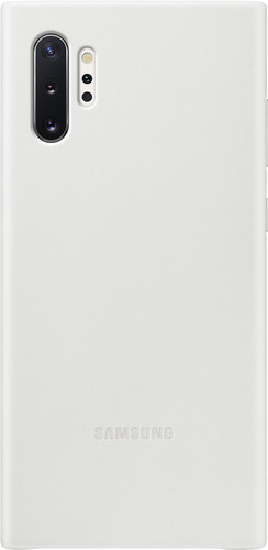 Samsung Galaxy Note 10 Plus Back Cover Leer Wit Main Image