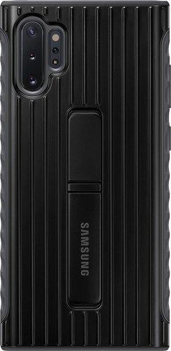 Samsung Galaxy Note 10 Plus Protective Standing Back Cover Zwart Main Image