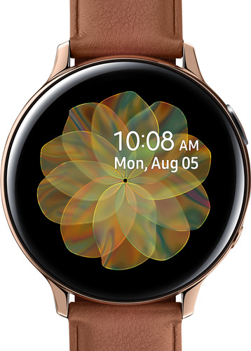 Samsung Galaxy Watch Active2 Goud / Bruin 44 mm RVS Main Image