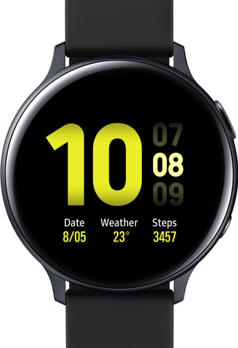Samsung Galaxy Watch Active2 Zwart 44 mm Aluminium Main Image