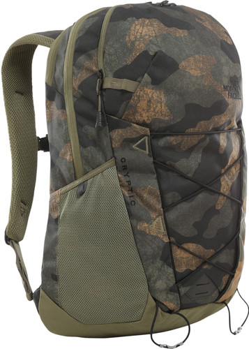 """The North Face Cryptic 15"""" Burnt Olive Green Waxed Camo 23L Main Image"""