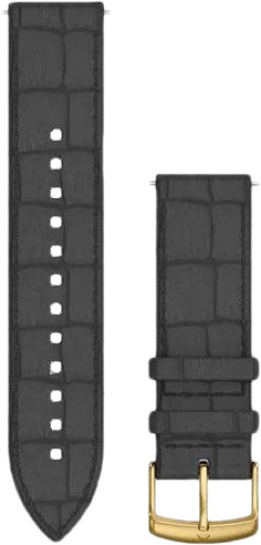 Garmin Quick Release 20mm Watch Strap Leather Black Main Image