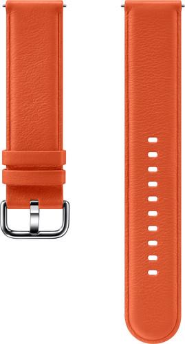 Samsung Galaxy Watch Active 2 Leather Strap Orange Main Image