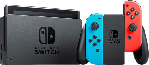 Nintendo Switch (2019 Upgrade) Red/Blue Main Image