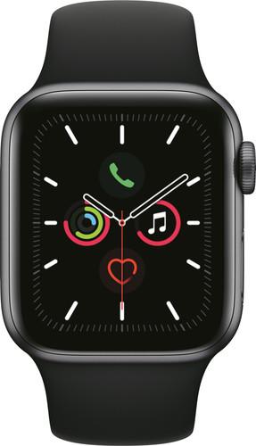 Apple Watch Series 5 40mm Space Gray Aluminium Zwarte Sportband Main Image