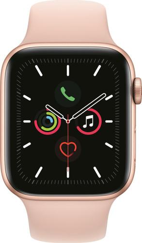 Apple Watch Series 5 44mm Gold Aluminum Pink Sport Band Main Image