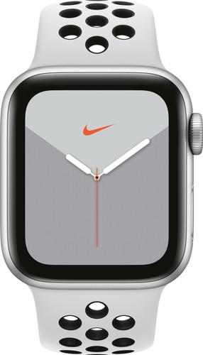 Apple Watch Nike Series 5 40mm Zilver Aluminium / Witte Sportband Main Image