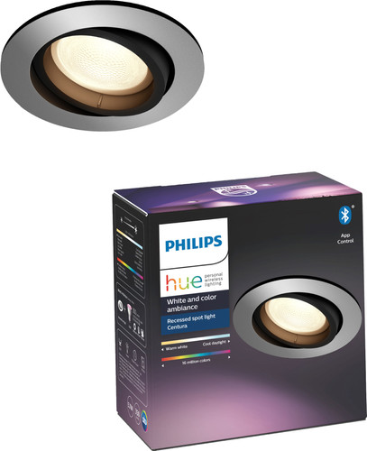 Philips Hue Centura Recessed Spot Light White & Color round aluminum Main Image
