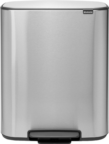 Brabantia Bo Pedal Bin 60 liter RVS Fingerprint proof Main Image