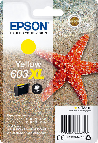 Epson 603XL Cartridge Yellow Main Image