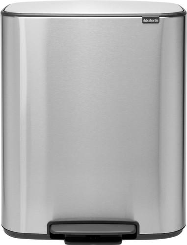 Brabantia Bo Pedal Bin 2 x 30 Liter RVS Fingerprint proof Main Image