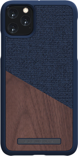 Nordic Elements Frejr Apple iPhone 11 Pro Max Back Cover Blauw/Hout Main Image