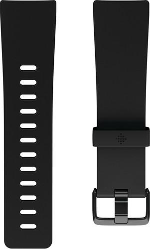Fitbit Versa 2 Classic Accy Siliconen Horlogeband Zwart L Main Image
