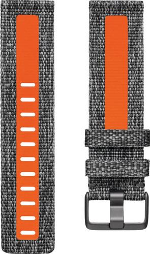 Fitbit Versa 2 Woven Siliconen Horlogeband Oranje L Main Image