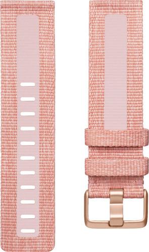 Fitbit Versa 2 Woven Siliconen Horlogeband Roze L Main Image