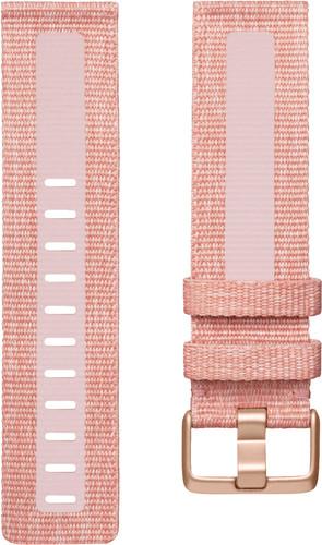 Fitbit Versa 2 Woven Siliconen Horlogeband Roze S Main Image