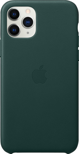 Apple iPhone 11 Pro Leather Back Cover Bosgroen Main Image