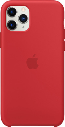 Apple iPhone 11 Pro Silicone Back Cover Rood Main Image