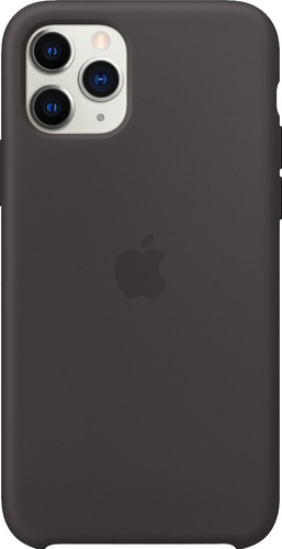Apple iPhone 11 Pro Silicone Back Cover Zwart Main Image