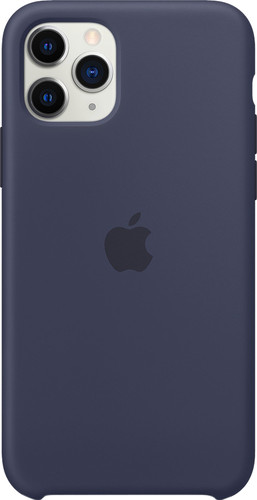 Apple iPhone 11 Pro Max Silicone Back Cover Middernachtblauw Main Image