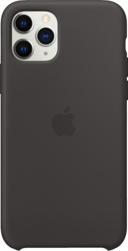 Apple iPhone 11 Pro Max Silicone Back Cover Zwart Main Image