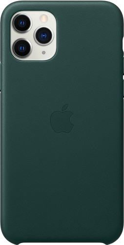 Apple iPhone 11 Pro Max Leather Back Cover Bosgroen Main Image