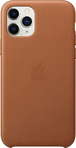 Apple iPhone 11 Pro Max Leather Back Cover Saddle Brown Main Image