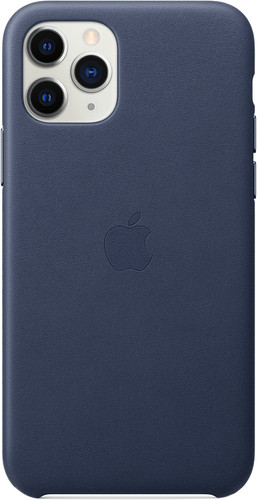 Apple iPhone 11 Pro Max Leather Back Cover Middernachtblauw Main Image