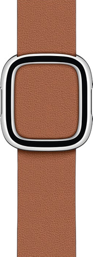 Apple Watch 38/40mm Modern Leather Watch Strap Saddle Brown - Small Main Image