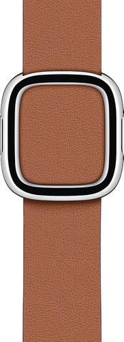 Apple Watch 38/40 mm Modern Leren Horlogeband Zadelbruin - Small Main Image