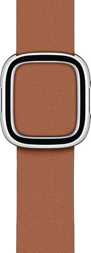 Apple Watch 38/40mm Modern Leather Watch Strap Saddle Brown - Medium Main Image