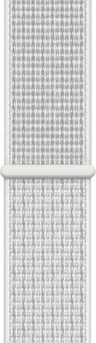 Apple Watch 40mm Nylon Sport Loop Watch Strap Summit White Main Image