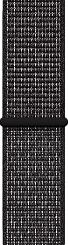 Apple Watch 44mm Nylon Sport Loop Watch Strap Black Main Image
