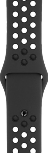 Apple Watch 44mm Silicone Watch Strap Nike Sport Anthracite/Black Main Image