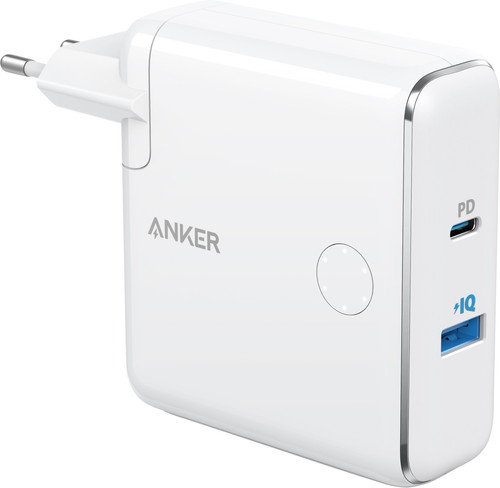 Anker PowerCore Fusion Charger and Power Bank 5000mAh Power Delivery White Main Image