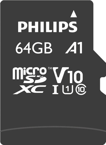Philips Micro SDXC 64GB 80MB/s + SD Adapter Main Image