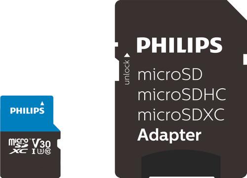 Philips Micro SDXC 64GB 100MB/s + SD Adapter Main Image